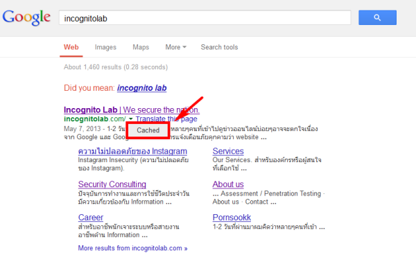 incognitolab search