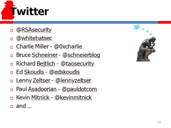 Security Experts' Twitter