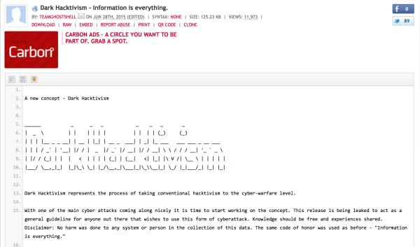 dark hacktivism